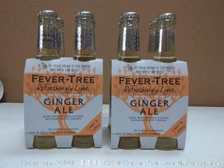 Fever Tree refreshingly light ginger ale 2 four packs