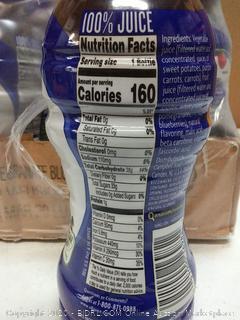 V8 100% juice pomegranate blueberry 12 pack EXP 03 2020