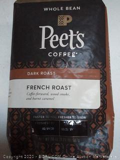 Peet's Coffee French Roast, Dark Roast Whole Bean Coffee, 20 Ounce Peetnik Pack (best by 2/2020)