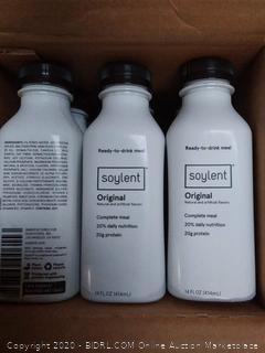 Soylent original flavor 12 pack of complete meal daily protein drink EXP November 2019