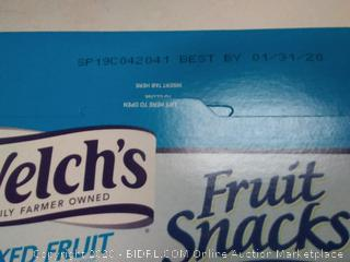 Welch's Fruit Snacks, Mixed Fruit, 40 Count exp1 2020