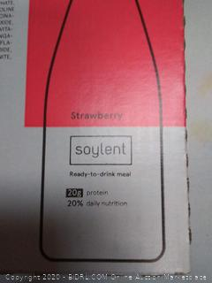 Strawberry Soylent ready to drink meal 12 bottles