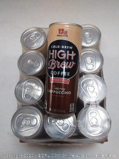 cold brew High Brew Coffee 12 cans with protein