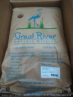 Great River organic Milling 5 grain 25 lb pancake mix exp January 2020