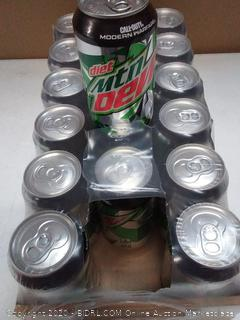 18 pack of Diet Mountain Dew can soda exp 0 2 2020