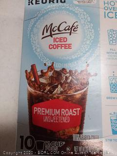McCafe iced coffee 10 K-Cups