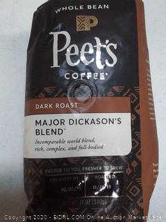 Peet's whole bean coffee dark roast major dickason's blend Best Buy February 2020