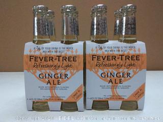 Fever Tree refreshingly light ginger ale two four packs