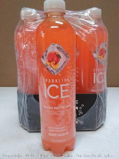 Sparkling Ice Peach nectarine beverage 12 pack exp March 2020