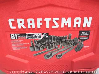 "CRAFTSMAN 81 PC. SAE/METRIC 1/4"" + 3/8"" DR. MECHANICS"