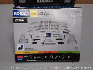 Kobalt 227-Piece Standard (SAE) and Metric Polished Chrome Mechanics Tool Set (Retail $199)
