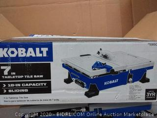 Kobalt 7-in 1 Wet Tabletop Sliding Table Tile Saw (needs saw blade)(used)