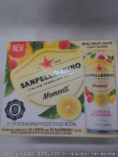 6 Pack San Pellegrino Italian sparkling lemon tea lemon and raspberry