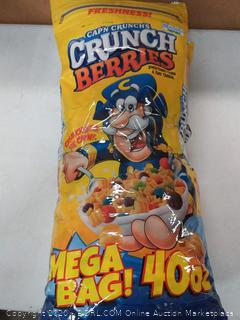 2 Mega packs of Captain crunches crunch berries 80 oz total