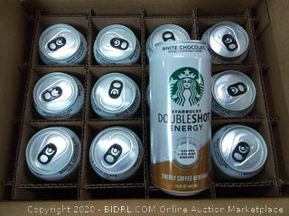 Starbucks white chocolate double-shot energy drinks