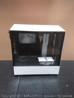 h500 mid Tower matte White (small ding in corner)