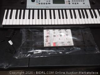 Yamaha YPT260 Portable Keyboard with Power Adapter (Retail $129) (powers on)