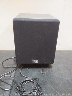 acoustic audio (psw250 - 6) Sub Woofer  speaker (powers on)