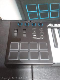 Alesis V61 61 Key USB MIDI Keyboard Controller with 8 Backlit Pads, 4 Assignable Knobs and Buttons, Plus a Professional Software Suite with ProTools First Included (powers on)(Retail $169)
