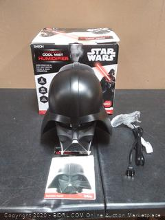 Star Wars 9757 Darth Vader Capacity Ultrasonic Cool Mist Humidifier, 2 L (powers on)