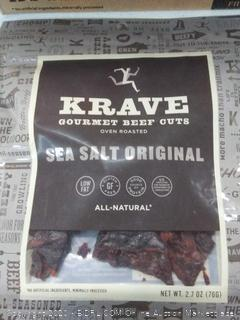 Krave Gourmet beef cuts sea-salt original 8 pack