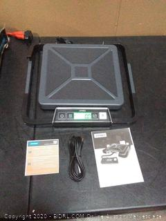 Dymo 1776111 S100 100lb Digital Shipping Scale With Usb (powers on) (one of the rails are open)