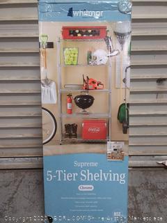 Supreme 5 Tier Shelving Chrome