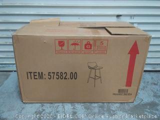 snakeskin brown chair set of 2 (online $169)