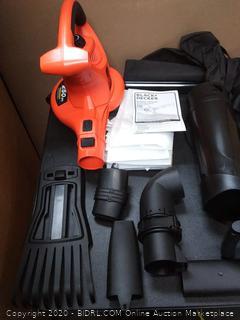 Black & Decker BV6600 12 Amp High Performance Blower/Vacuum (powers on)