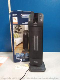 delonghi ceramic heater previously owned Powers on