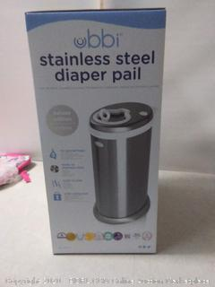 Ubbi stainless steel odor locking diaper pail Chrome (online $89)