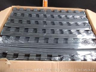 BalanceFrom Puzzle Exercise Mat with EVA Foam Interlocking Tiles, Black, 144 sq. ft. (Online $114)