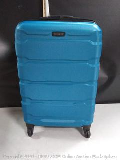 """Samsonite Omni PC Hardside Expandable Luggage with Spinner Wheels, Caribbean Blue 24"""" (online $115)"""