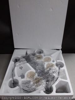 Progress Lighting Strahan 5-Light Black Transitional Clear Glass Shaded Incandescent Chandelier (online $189)