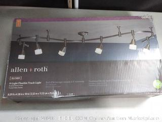 Allen + roth Sloan 6-Light 96-in Brushed Nickel Dimmable LED (online $189)
