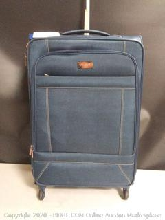 "American Tourister Belle Voyage Softside Luggage with Spinner Wheels, Blue Denim 28"" (online $115)"