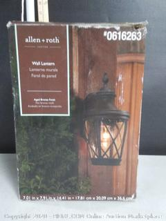 "allen + roth Castine 14"" H Aged Bronze Outdoor Wall Light"