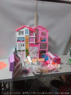 Barbie 3 story townhouse (online $87)