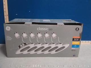GE 6-Pack Classic Integrated LED 5-in or 6-in 65-Watt EQ White