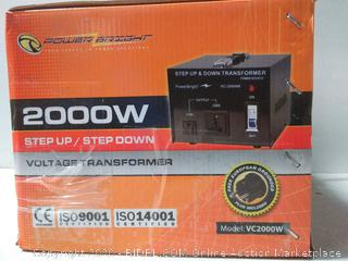Power Bright 2000w Voltage Transformer Model vc2000w