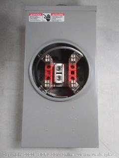 Milbank 200 Amp ring-type overhead 4 terminal meter socket (online $46)