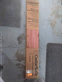 Cedar Safe natural closet liner tongue and groove wall planks (online $30)