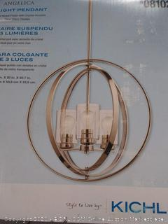 Angelica 3 light pendant missing one glass cover (online $229)