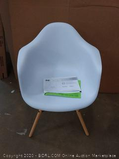 mid-century modern molded armchair