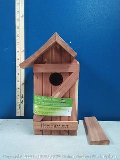 Homegrown Ceder Blue Bird House