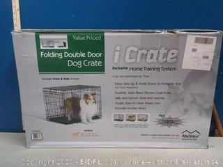"Midwest Icrate Double Door Dog Crate-30"" X 19"" X 21""-"