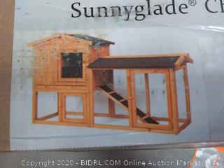 Sunnyglade Chicken Coop Large Wooden Outdoor (online $131)
