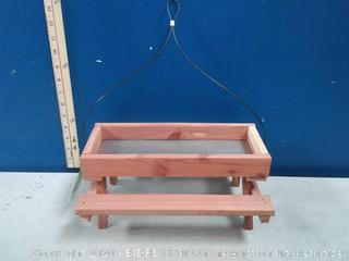 HomeGrown Red Cedar Platform Bird Feeder (Cracked)
