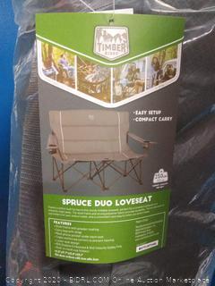 Timber Ridge Spruce Duo loveseat Chair Gray