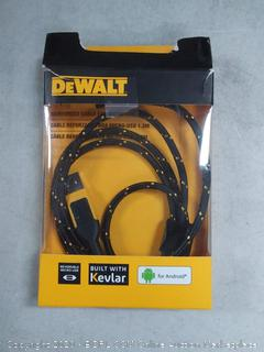 DeWalt CABLE BRAIDED REINFORCED 4FT usb